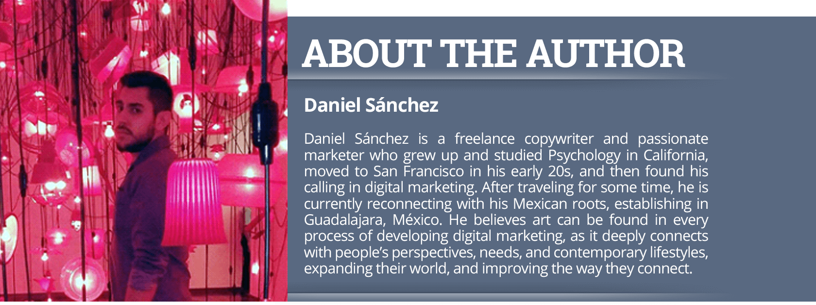 About The Author - Daniel Sanchez