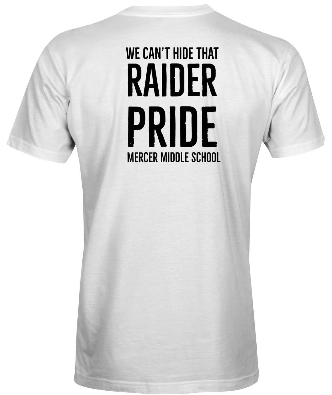 White Mercer School Spirit T-shirts -Back