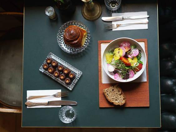 Beetroots salad & Baked goods at ORA, Berlin