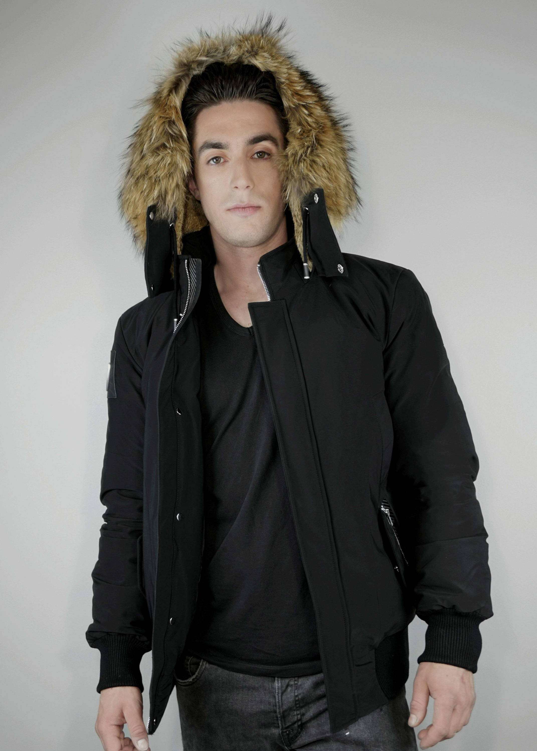 Carbonesque mens aerglo goose down bomber