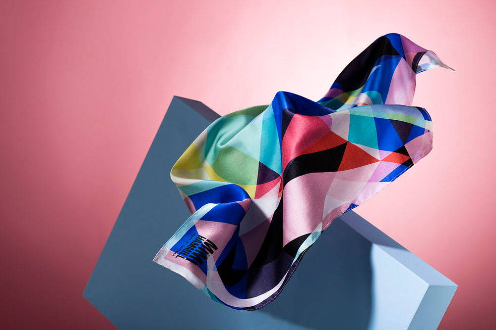 Digitally Printed Silk Satin Scarf, printed by BeFab Be Creative for Mimi Hammil. Check out more of the fabrics we digitally print on at www.BeFabBeCreative.co.uk