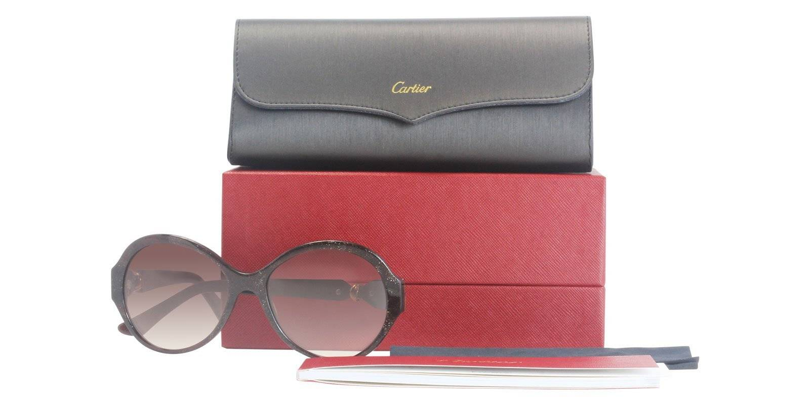 82e623529294 Cartier ESW00199 Aviator frame with Pearl Grey Polarised lenses and Silver  Transparent frame. These sunglasses feature a pilot style frame with brushed  ...