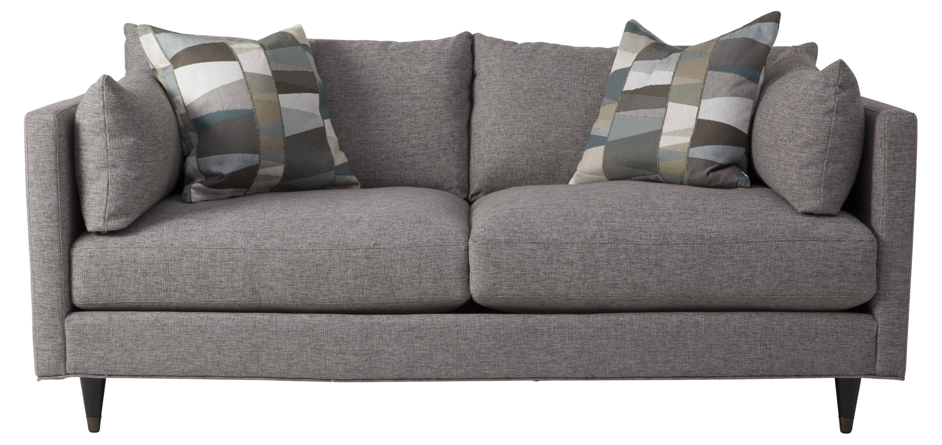Image of Dufresne My Custom Pia Sofa - Oak colour with two pillows on the sofa