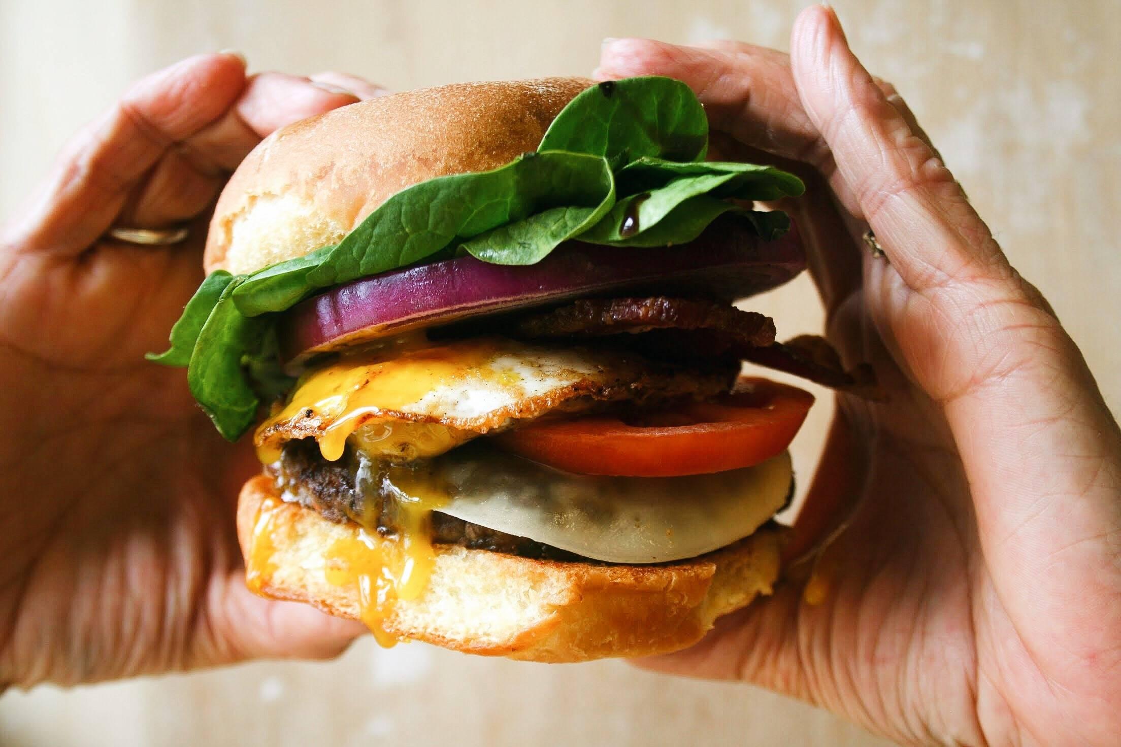 Grateful Grass Fed Burger Serving Suggestion