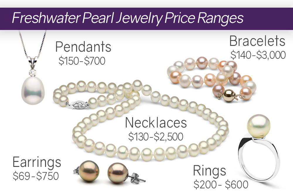Average Freshwater Pearl Jewelry Price Ranges