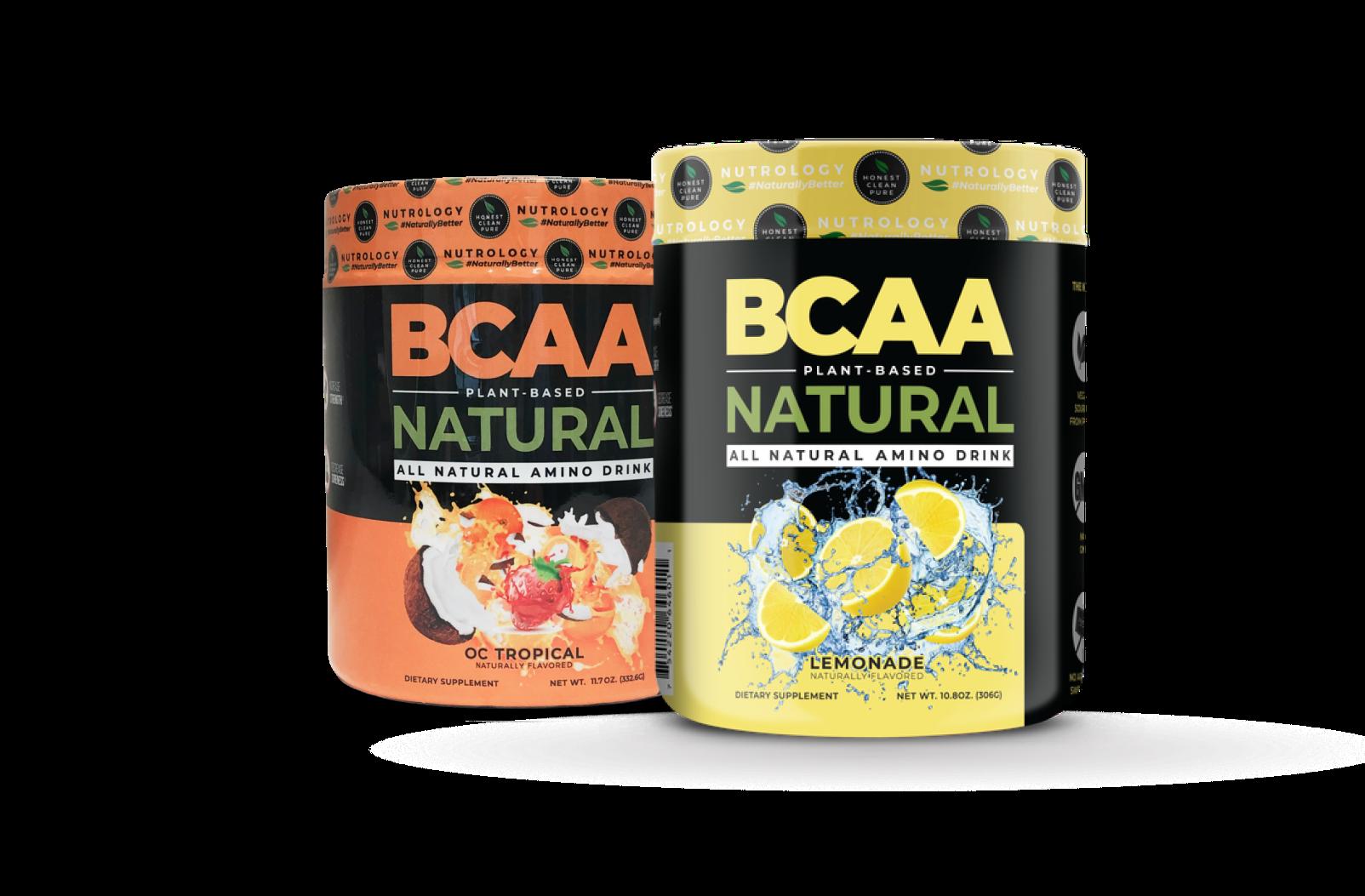 Nutrology BCAA Natural - Lemonade and OC Tropical Flavors