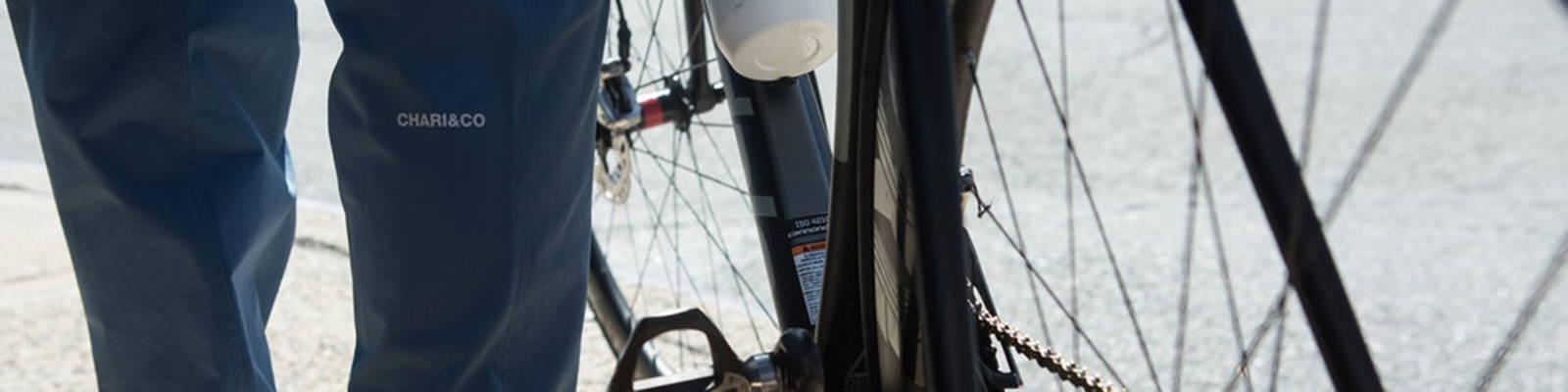 Chari & Co model with bike