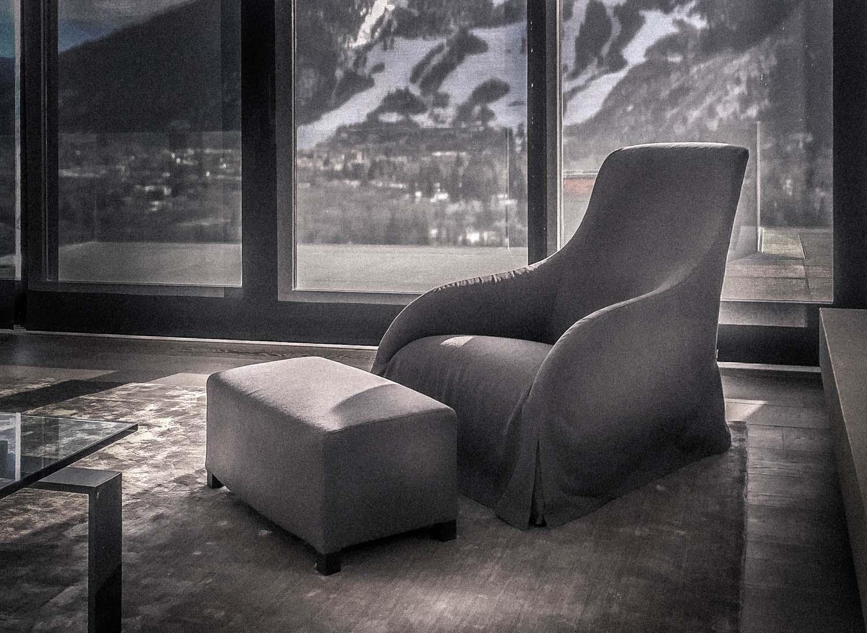 JANGEORGe Interiors & Furniture project in Aspen, CO, with B&B Italia furniture.
