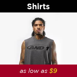 Shop AND1 Mens shirts. AND1 Cyber Monday, 35%off SITEWIDE. Perfect holiday gifts for family and friends at cheap prices: basketballs, basketball shoes, tai chis, shorts, shirts, jerseys, sneakers, basketballs, beanies, hoodies, joggers and more.