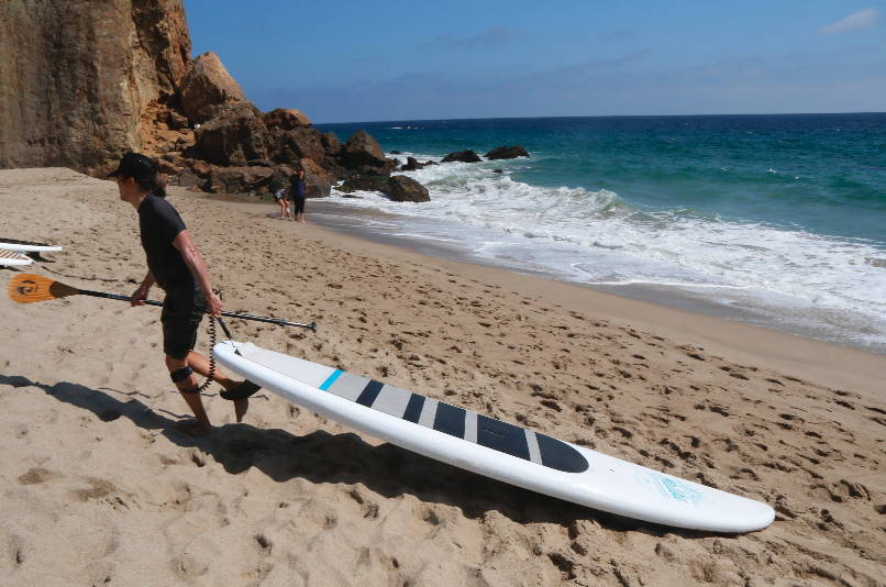 Malibu SUP on the beach