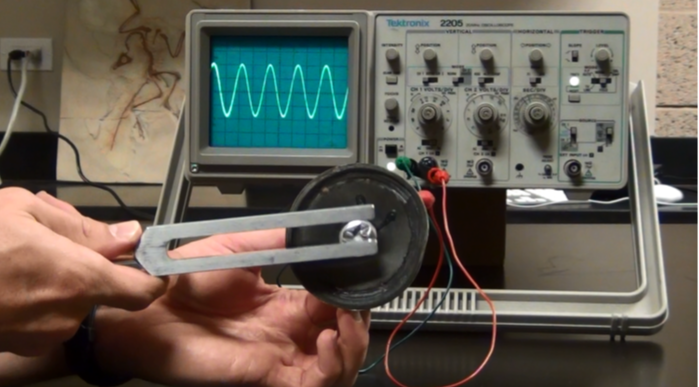 Tuning Fork with  Oscilloscope