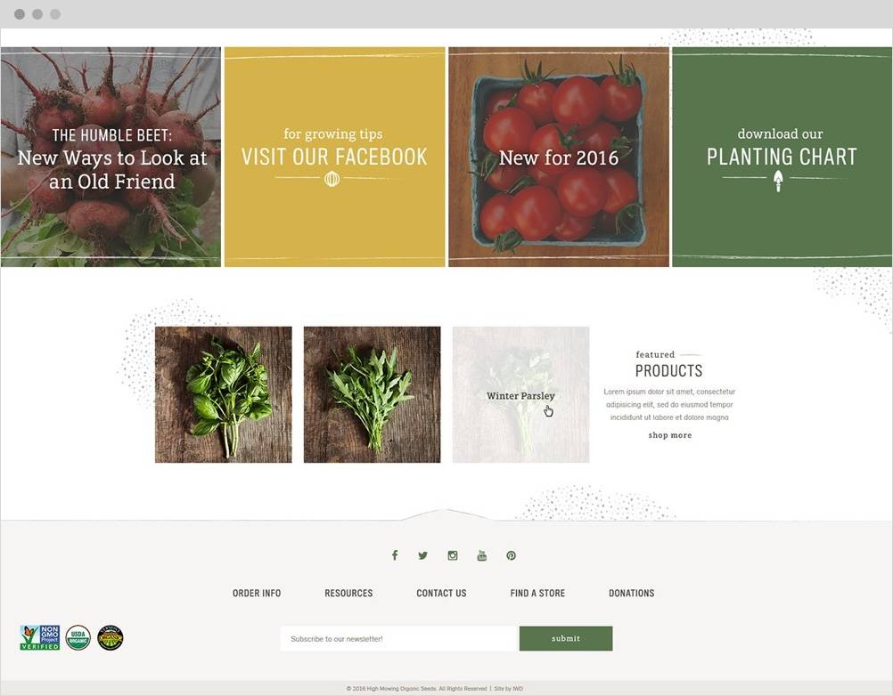 High Mowing Organic Seeds The Challenge 2 B2B Magento