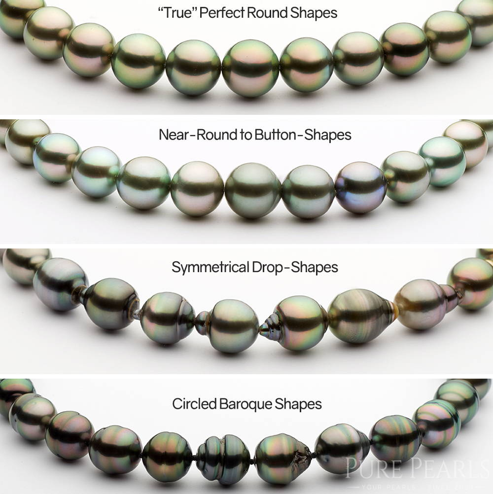 Tahitian Pearl Shapes: Round to Baroque Pearls