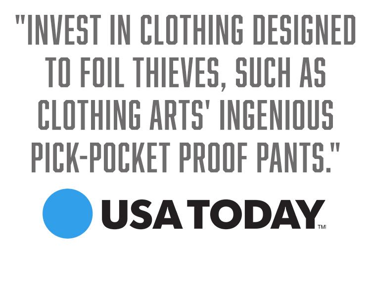 Pick-Pocket Proof® Travel Clothing - Innovative Travel Pants