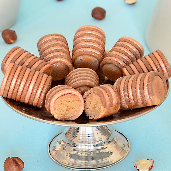 Soft mixture of almond and hazelnut