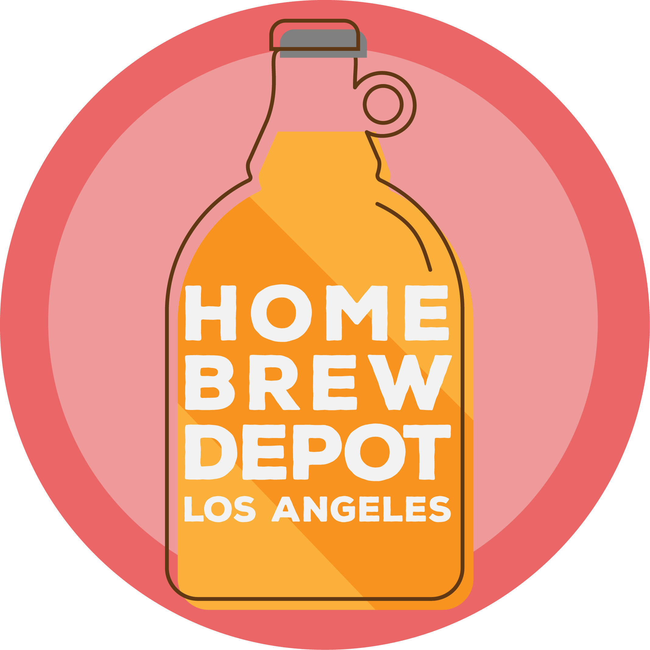 Home Brew Depot beer growler logo