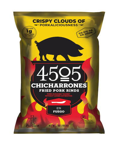 Bag of En Fuego chicharrones