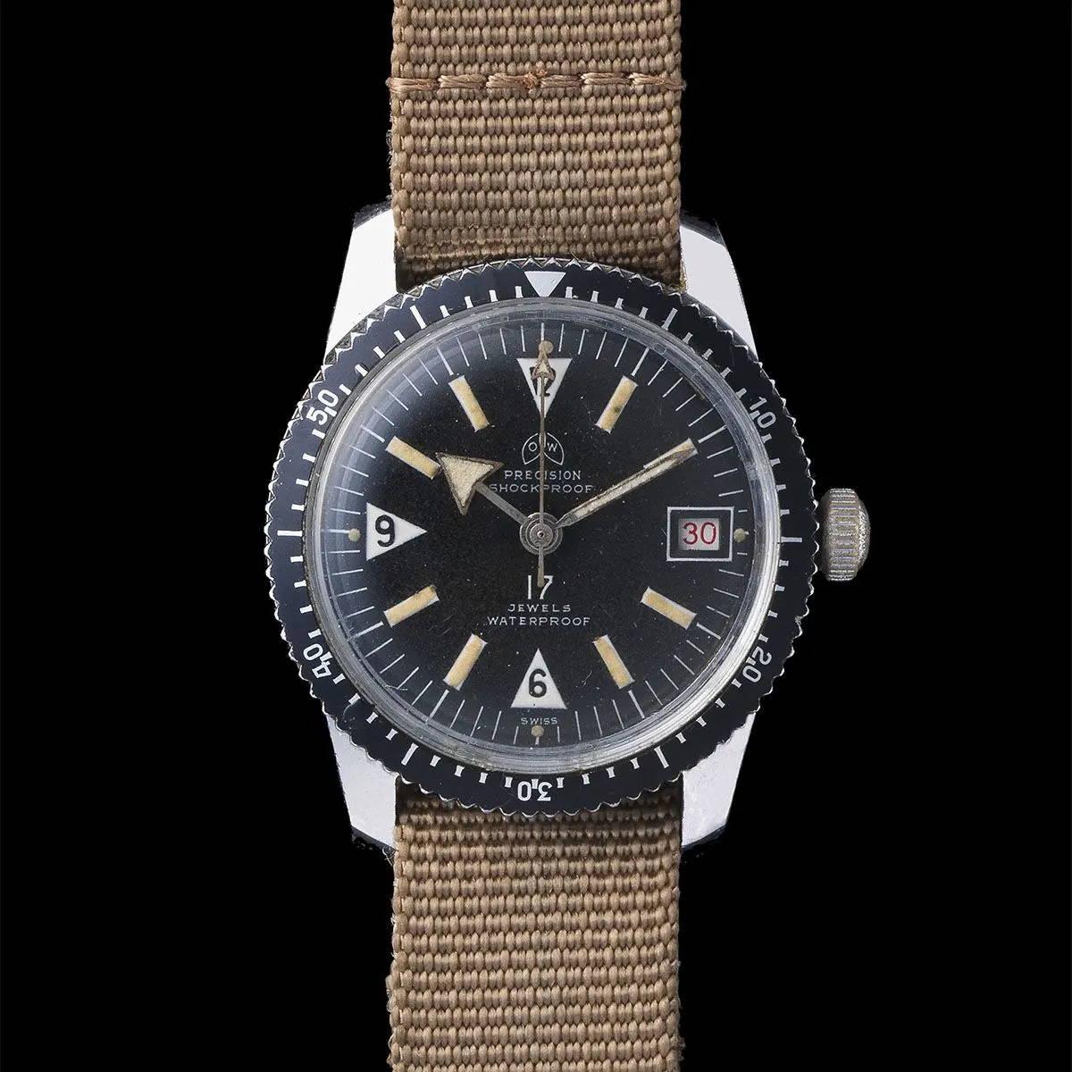 Ollech and Wajs Zurich 1956 OW vintage watch swiss made Diver OW105