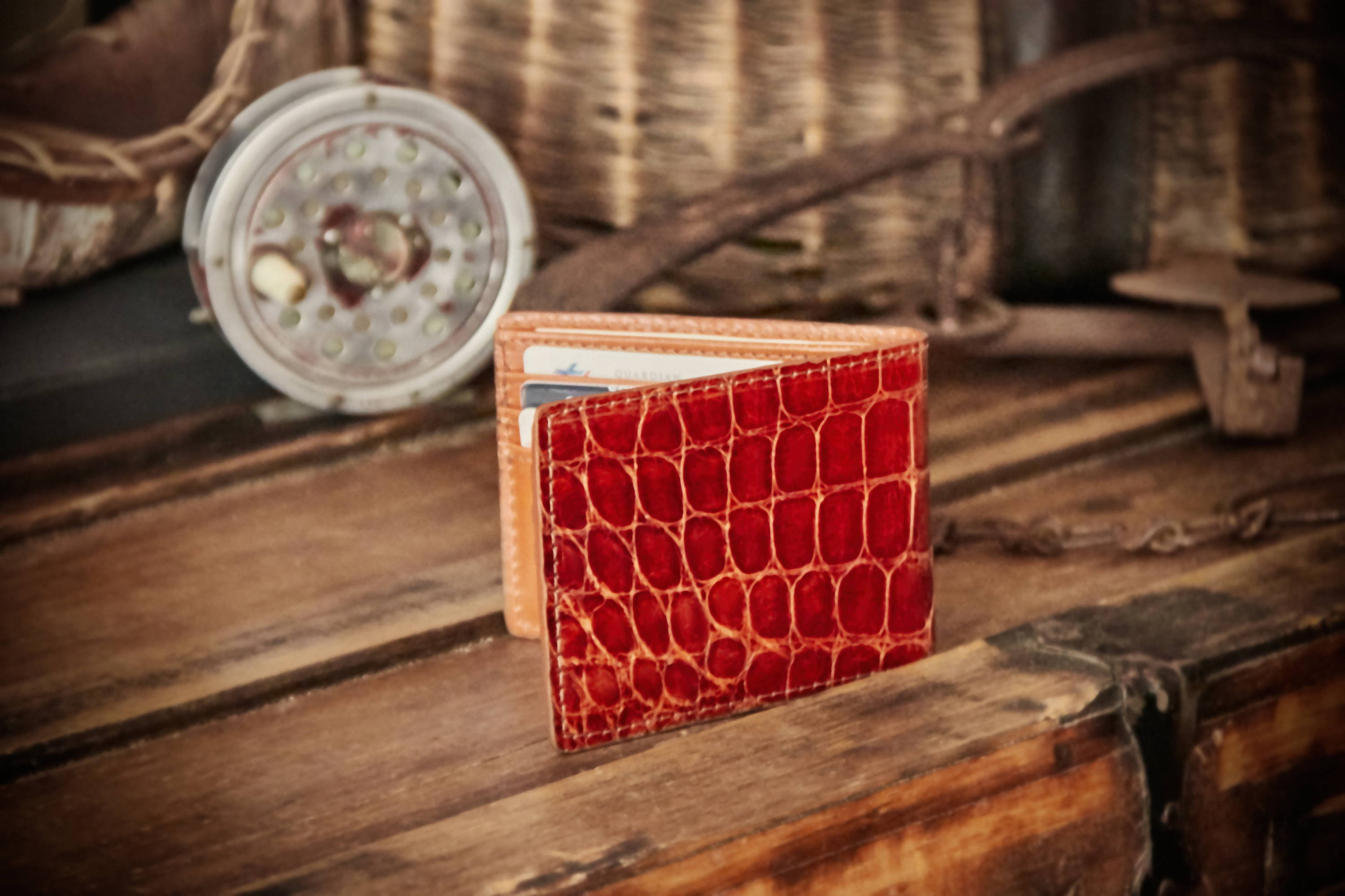Genuine Alligator skin wallet for men