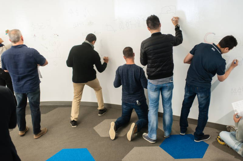 People trying out IdeaPaint