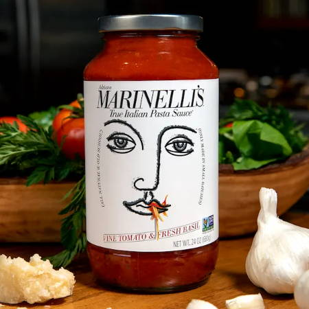 True Italian Pasta Sauce Marinelli's Vine Tomato and Fresh Basil