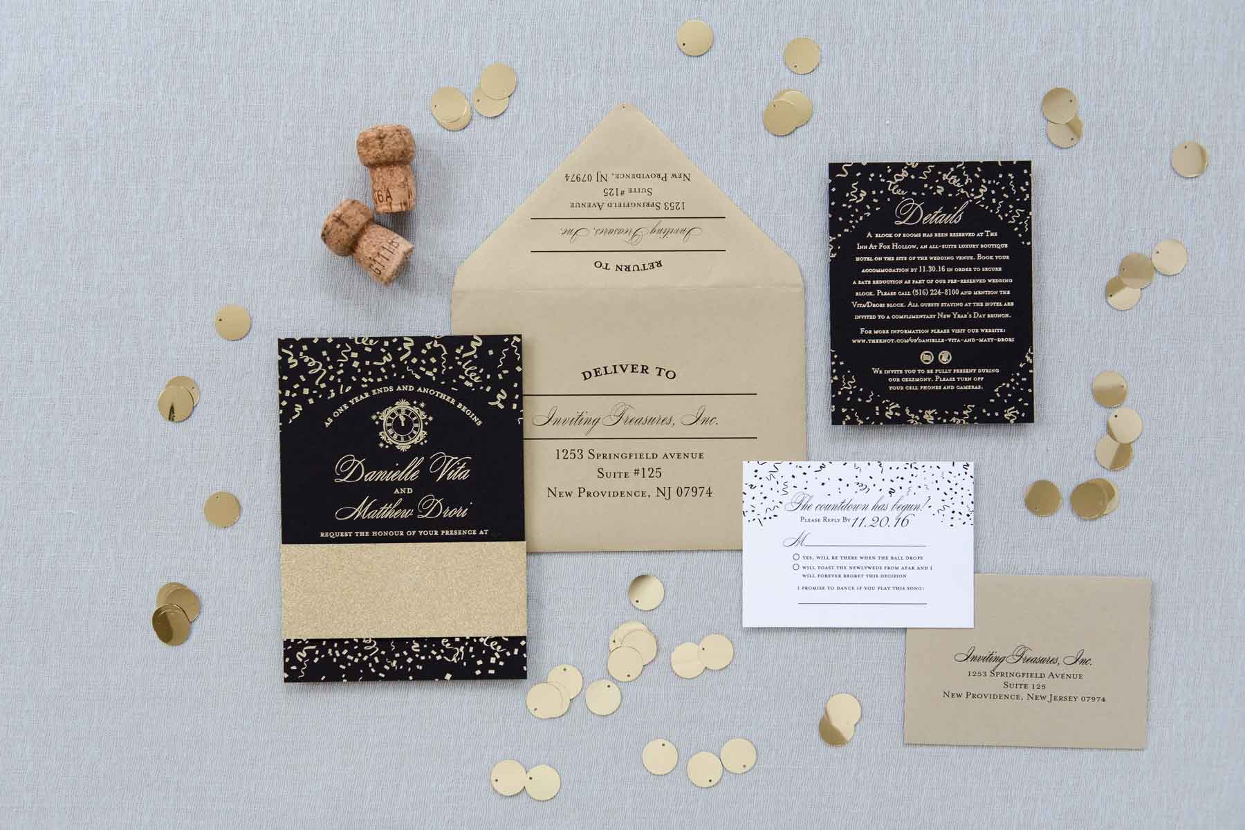New Year's Eve Invitation Suite