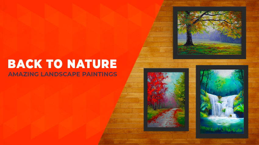 nature, scenery and forest paintings