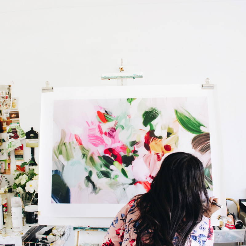 Bloom in the studio with artist Patricia Vargas of Parima Studio- Abstract artist
