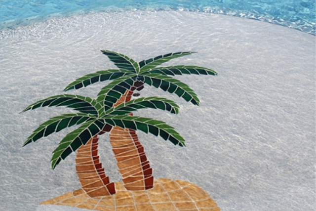 PTWMCOOL - Twin Palms Pool Mosaic