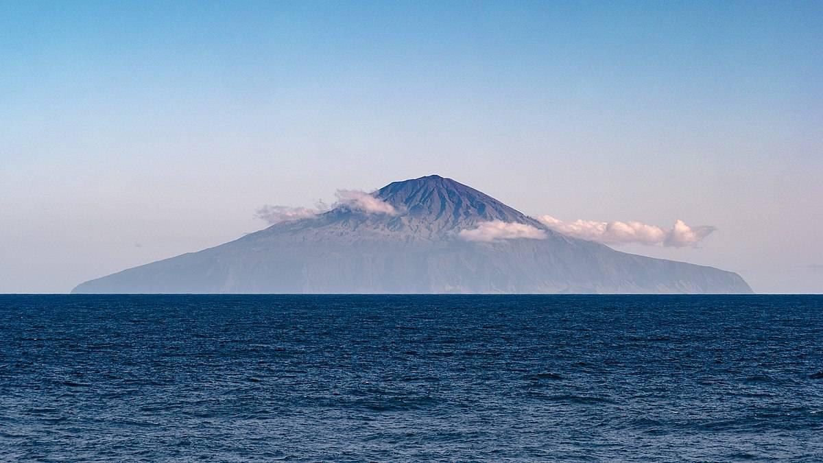 Tristan da Cunha cuts an imposing profile.