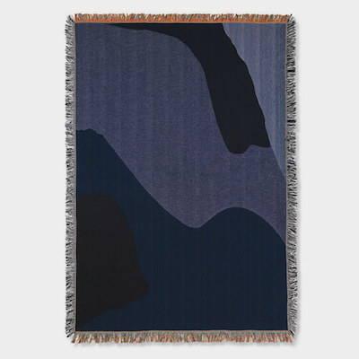 Ferm Living Vista Blue Blanket
