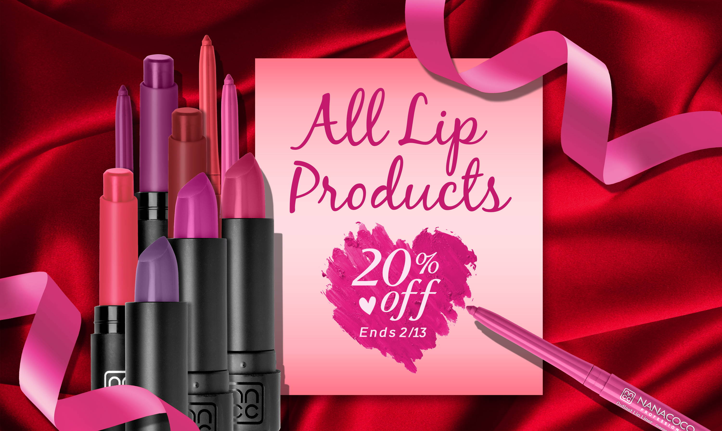 Nanacoco Professional Lip Products 20% off