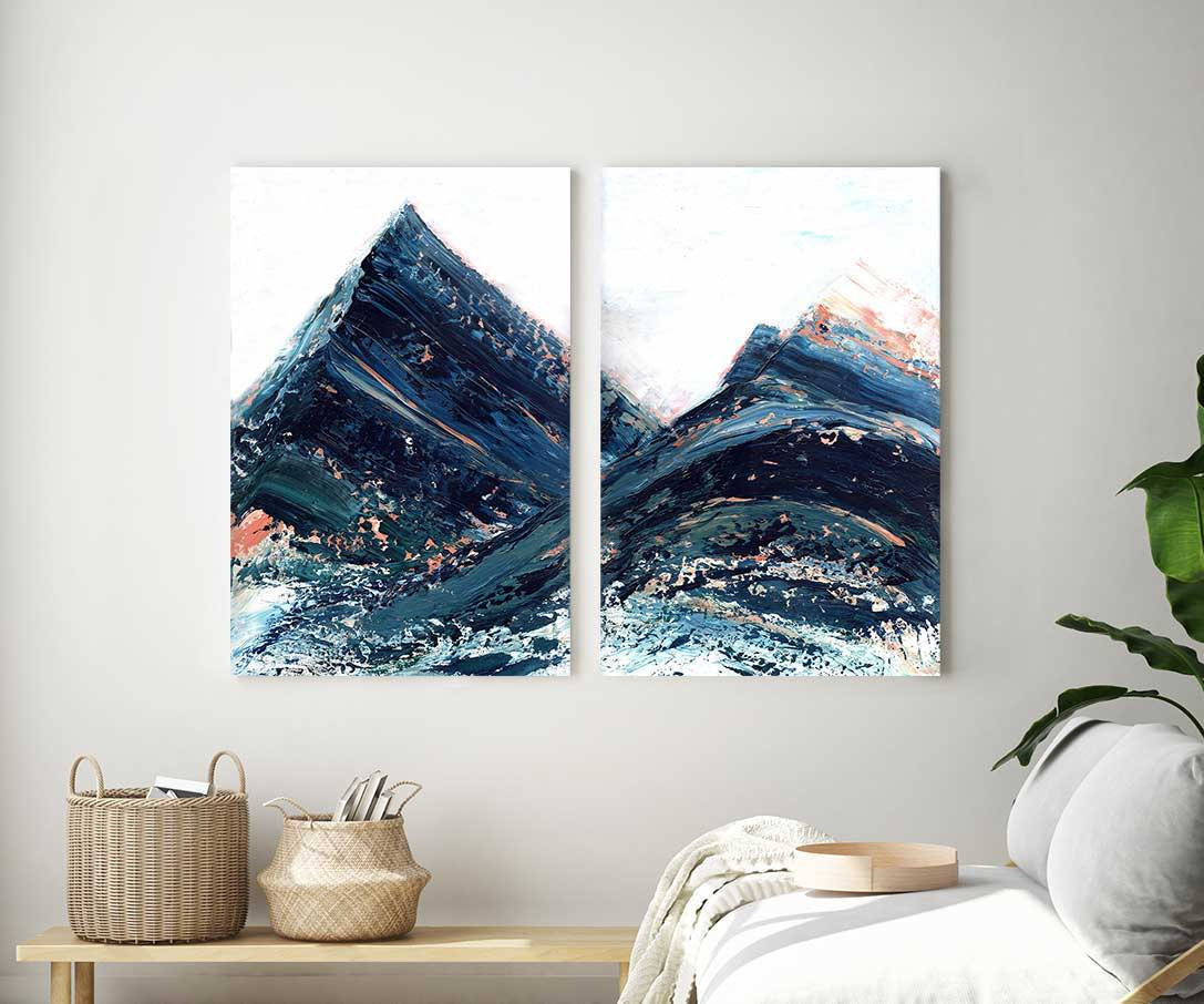 Copper Hills Diptych Print
