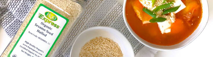 High Quality Organics Express Sesame seeds with Kimchi soup