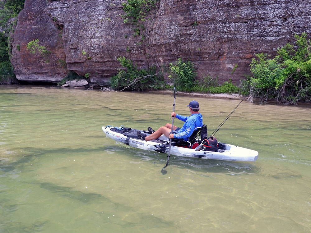 sit on kayaking down the llano river