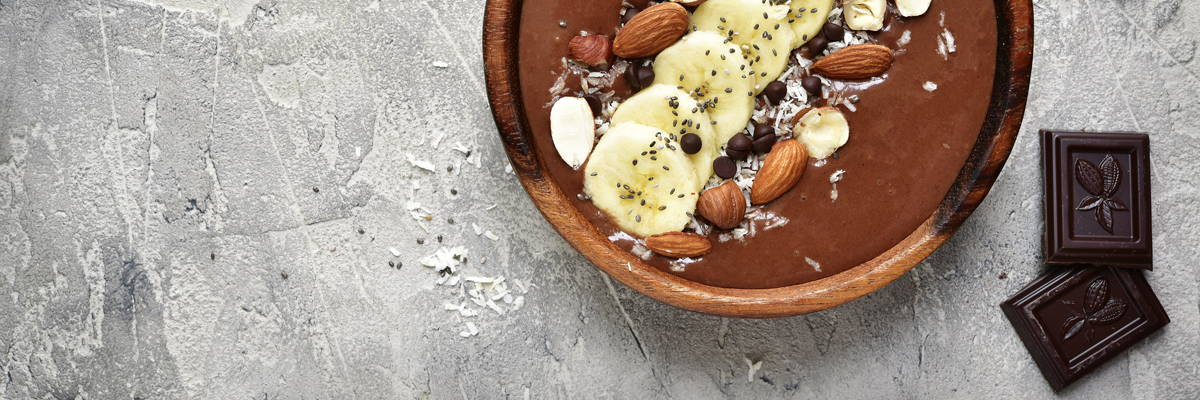Nüsse, Kakao und Bananen sind gut für die Nerven
