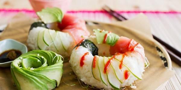 Sushi als Donuts