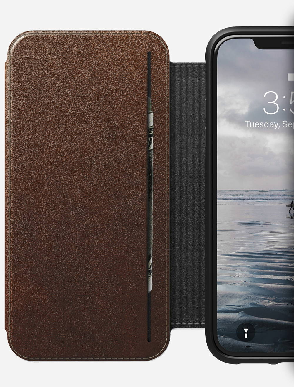 new york f9b69 1a01c NOMAD® | Rugged Tri-Folio for iPhone XS Max, Rustic Brown