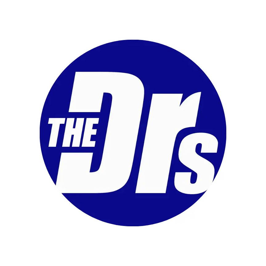 Graphic logo of The Drs