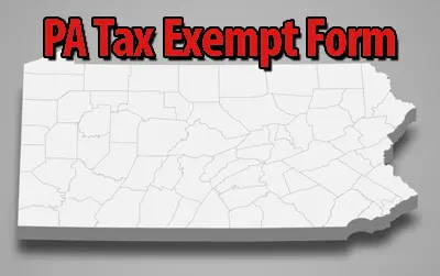 PA Tax Exempt Certificate