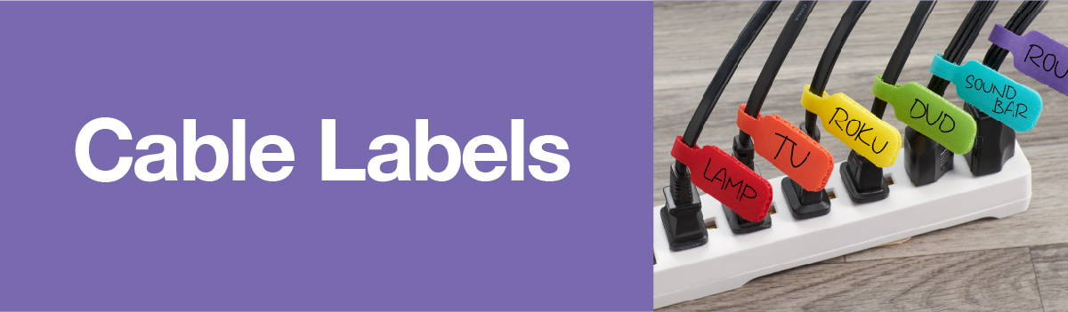 Cable Labels by Wrap-It Storage for easy cord management and organization