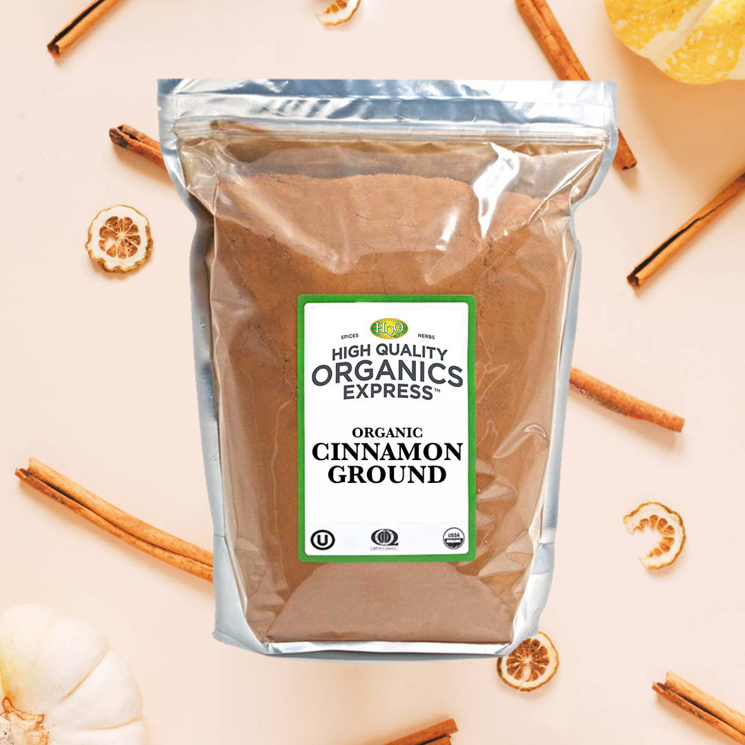 High Quality Organics Express ground cinnamon bag