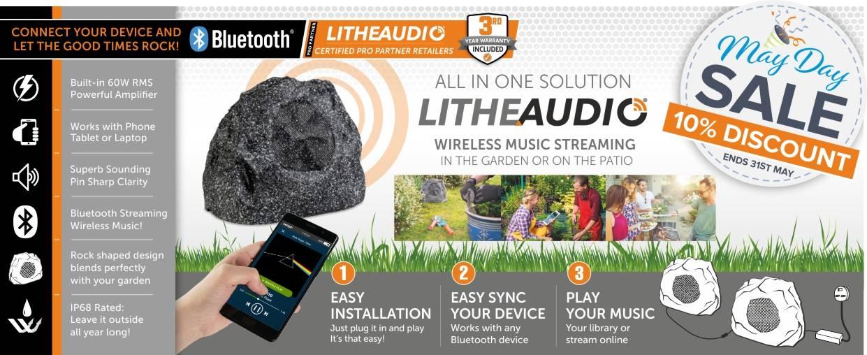 Lithe Audio Garden Rock Speaker with 10% discount
