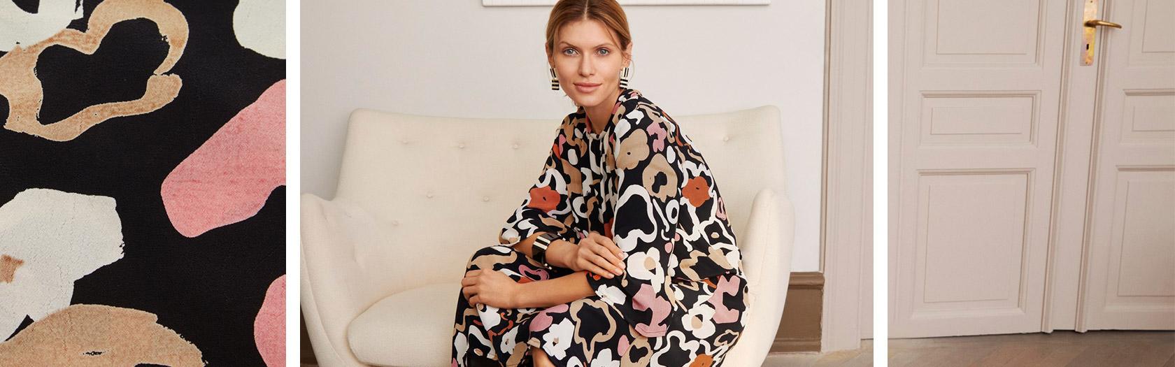 Nyla Dress in Dusty Rose Floral Combo | Masai Copenhagen