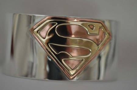 Sterling silver Superman cuff bracelet