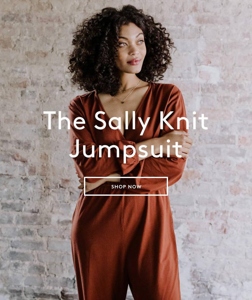 Shop Sally Knit Jumpsuit