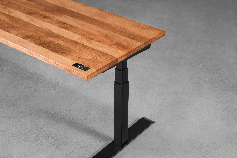 Sway sit-stand desk - ergonofis - cherrywood