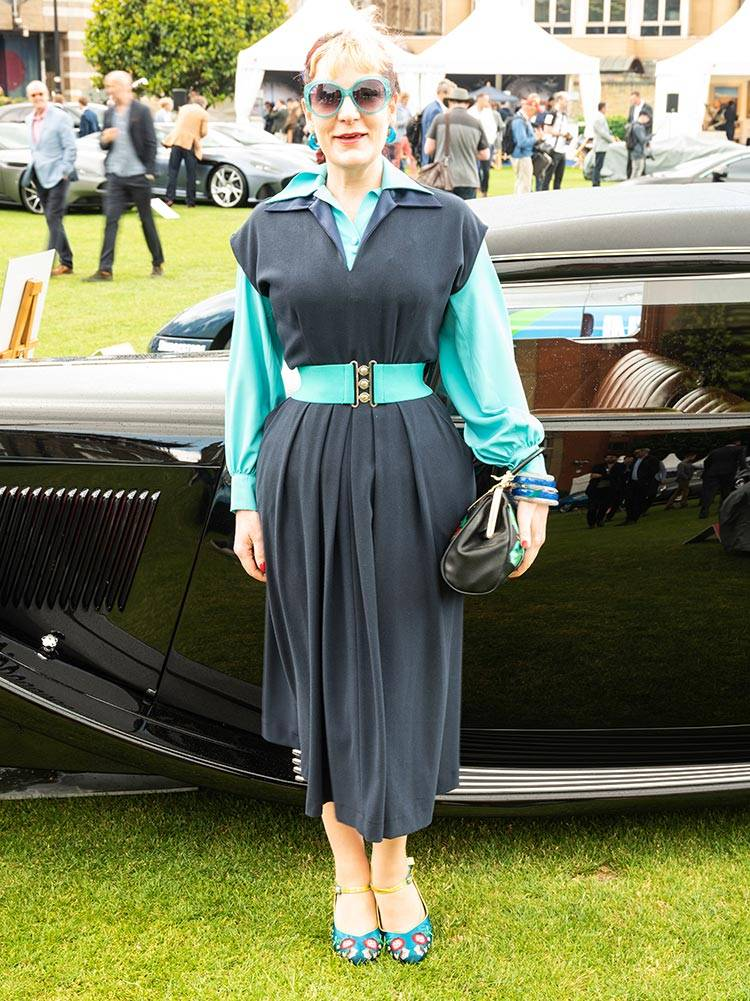 1950s navy blue dress goodwood revival