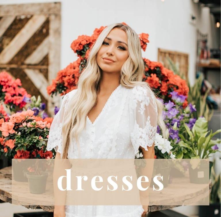 Dresses from Bella Ella Boutique.