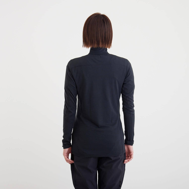 NORRONA(ノローナ)/イコライザー メリノジップネック/ブラック/WOMENS